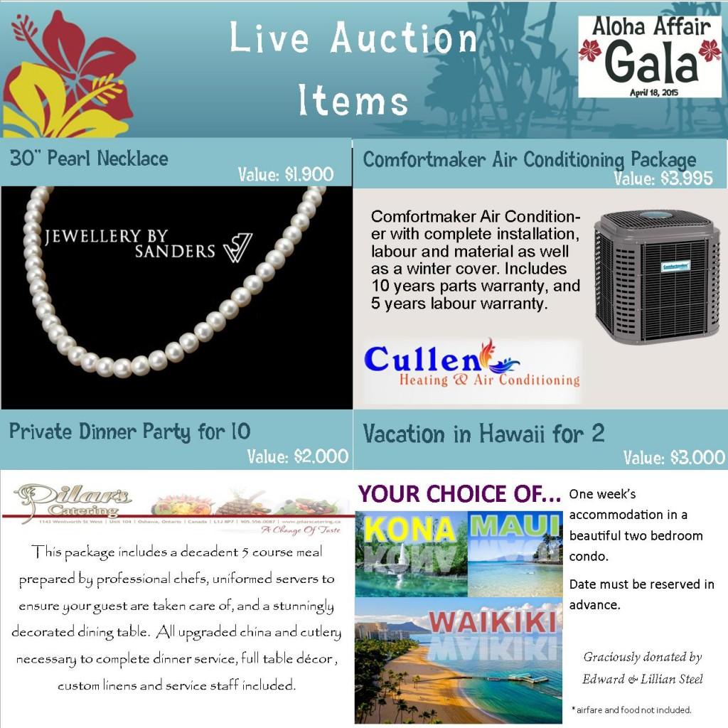 Live Auction Items