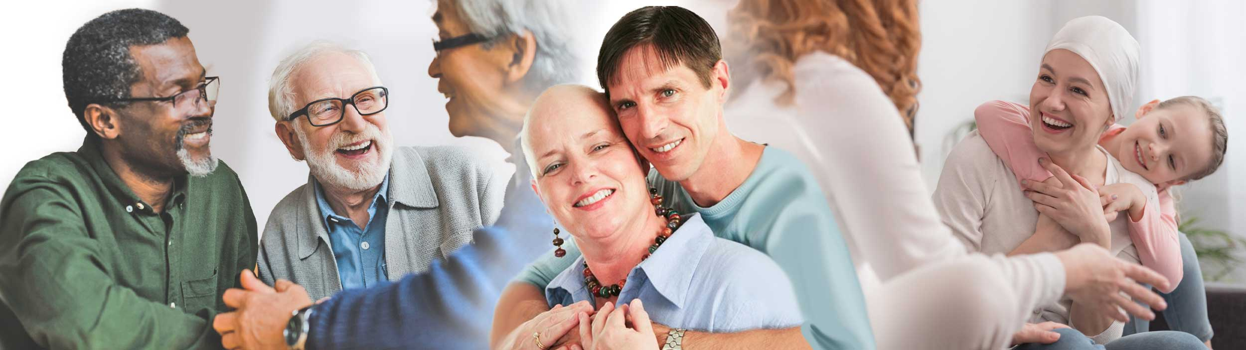 collage of people, cancer support