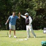 Golfers High Five