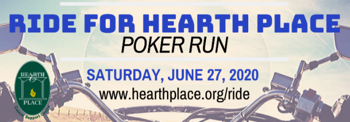 Ride For Hearth Place Poker Run Banner