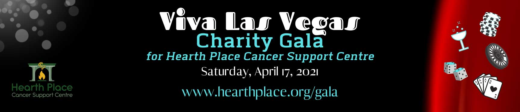 Viva Las Vegas Charity Gala for Hearth Place Cancer Support Centre, April 17, 2021, hearthplace.org/gala
