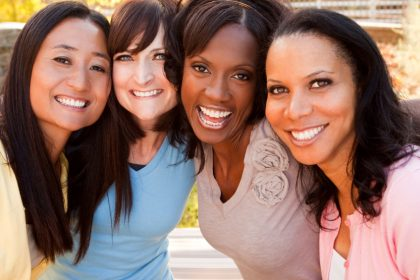 Group of diverse women smiling